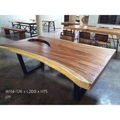 RT3 Rain Tree Wood Table