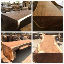 Acacia whole log wood table